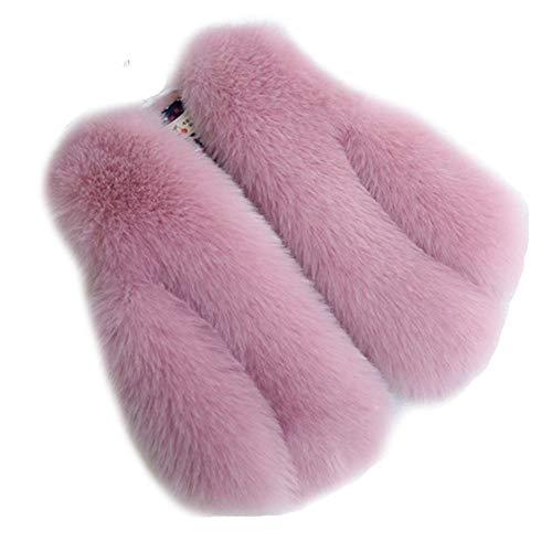 FOLOBE Bambino e Donne Faux Pelliccia Cappotto Giletcoat Inverno Caldo Gilet Bambini Imitate Pelliccia Outwear Short Slim Vest