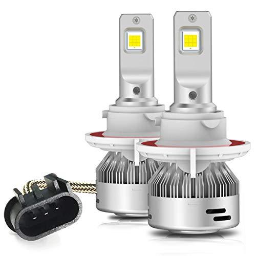 LASFIT H13 9008 LED Bulbs Super Bright 60W 6000LM 6000K White LED Light, Plug&Play