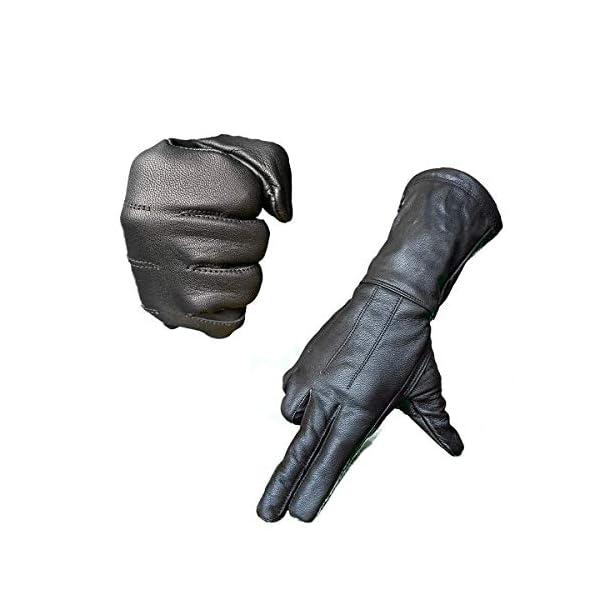 Hugger Motorcycle Black Gauntlet Gloves Unlined Cold/Wind Resistant