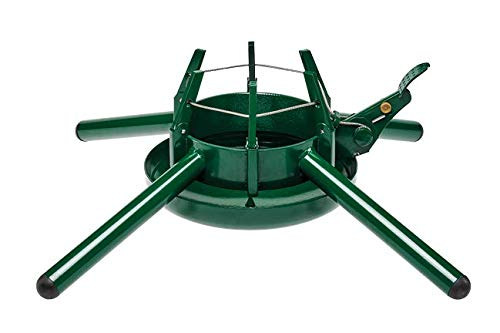 Krinner Tree Genie Steel Christmas Tree Stand (Green) Holds Trees Up to 15 Feet Tall