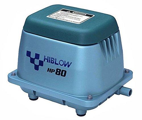 HiBlow HP-80 Komplettpaket m. Verteiler, Schlauch und Luftsteinen 80 L/min. 71W