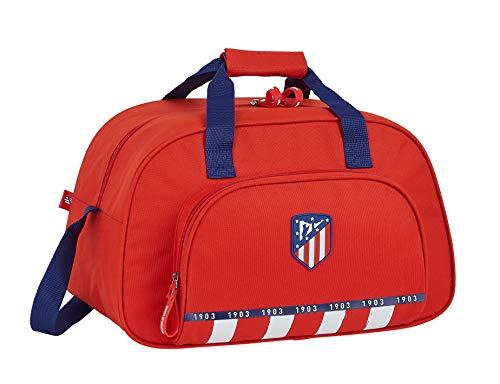 Safta Bolsa de Deporte de Atlético de Madrid 1ª Equipación 20/21, 400x230x240mm, Rojo/Blanco/Azul