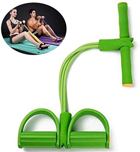 Pedal-Widerstand-Band-Licht 4-Rohr Yoga Gurt elastischer Zugseil Fitnessgeräte, Sit-up Übungsgerät, Pedal Fitness Latex-Schlauch (Color : Green)