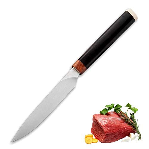 Cuchillos cocinero Cuchillo de utilidad 9CR14MOV Cocina de acero Cuchillos de bistec de carne para cocinar Herramientas de tomate BBQ Camping Cuchillos para exteriores Cuchillo para cocinar profesiona