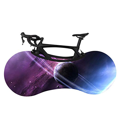 Bike Cover, Bicycle Wheel Cover Dustproof Stretch Bike Jacket Washable Stretchy Dirt Proof Fabric Starry Sky Pattern Mountain Bike Cover-clicktoselectstyle1