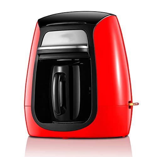 Kaffeemaschine Teefilter Amerika Stil automatische Innenministerium Elektroeinzel Ceramic Cup Schleifen bewegliche kleine Espressomaschine 300W,Rot