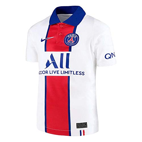 Nike Kinder Auswärts-Trikot Paris Saint-Germain BRT Stad Auswärts-Trikot, White/Old Royal, M, CD4507