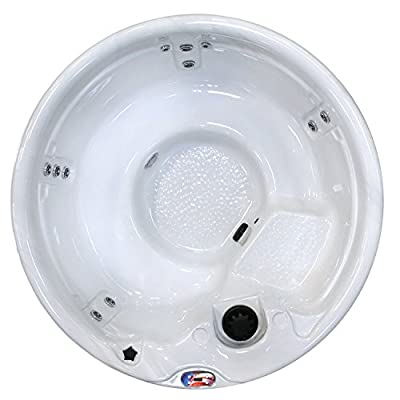 American Spas AM-511RM 5-Person 11-Jet Round Spa with Multi Color Spa Light