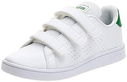 adidas Advantage C, Zapatillas de Tenis Unisex niños, Multicolor Ftwbla Verde Gridos 000, 30 EU