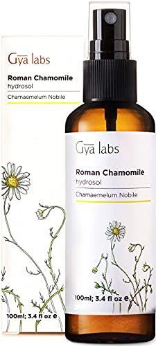Gya Labs Idrolato di camomilla romana per pelle e capelli - Allevia l'acne, la pelle sensibile e doma i capelli crespi - Spray di olio essenziale puro al 100% e nebbia per il corpo - 100 ml