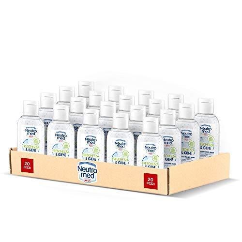 Neutromed Gel Igienizzante Mani Freschezza & Igiene, Gel Disinfettante Antibatterico, 20 pezzi x 50 ml
