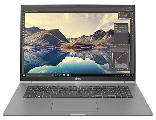 LG Gram 17Z990 Notebook, Display 17' QHD 16:10 IPS, Processore i7-8565U, RAM 8GB DDR4, SSD 512GB, Batteria 72 Wh (fino a 19,5 ore), Windows 10 Home (64 bit), Tastiera Italiana, Peso 1340 g, Argento