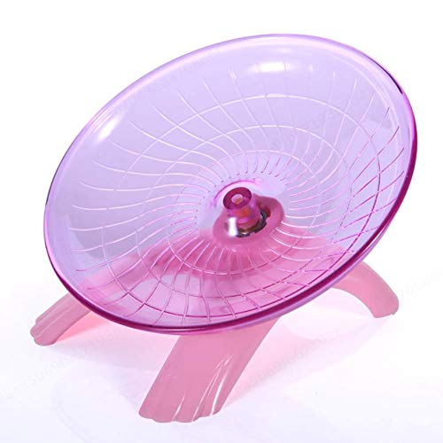 PRINDIY rueda para hámster para mascotas voladora de la masa de la bicicleta estática ratón disco disco de juguete robusto accesorios