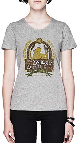 The Snuggly Duckling Gris Mujer Camiseta Tamaño XL Grey Women's tee Size XL