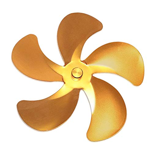 Nobranded Hoja del Ventilador de la Estufa, 5 Cuchillas de Repuesto para el Ventilador de la Estufa Ventilador de energía térmica para quemadores de - Oro