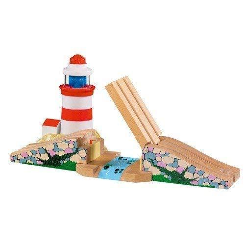 Fun toys i s 41030194 phare avec son train en bois