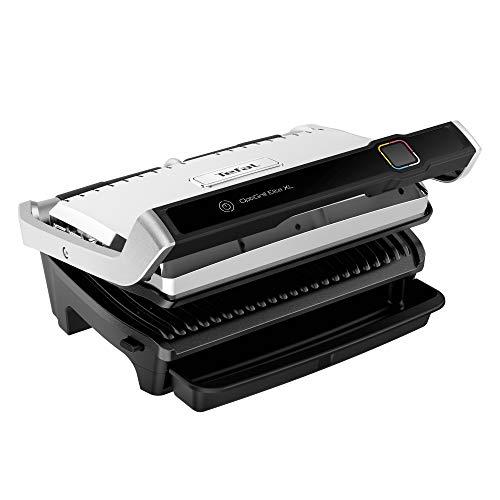 Tefal OptiGrill Elite XL - Parrilla eléctrica para cocina automática con 16 programas automáticos, función de alimento congelado, carne, bien marcado, modo manual, acero inoxidable, negro GC760D12