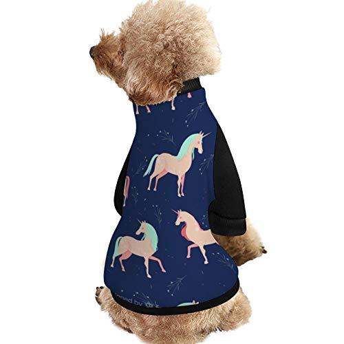 Lplpol SXA141 Hundejacke, wärmend, Einhorn-Muster, Hundejacke mit Hundewelpen