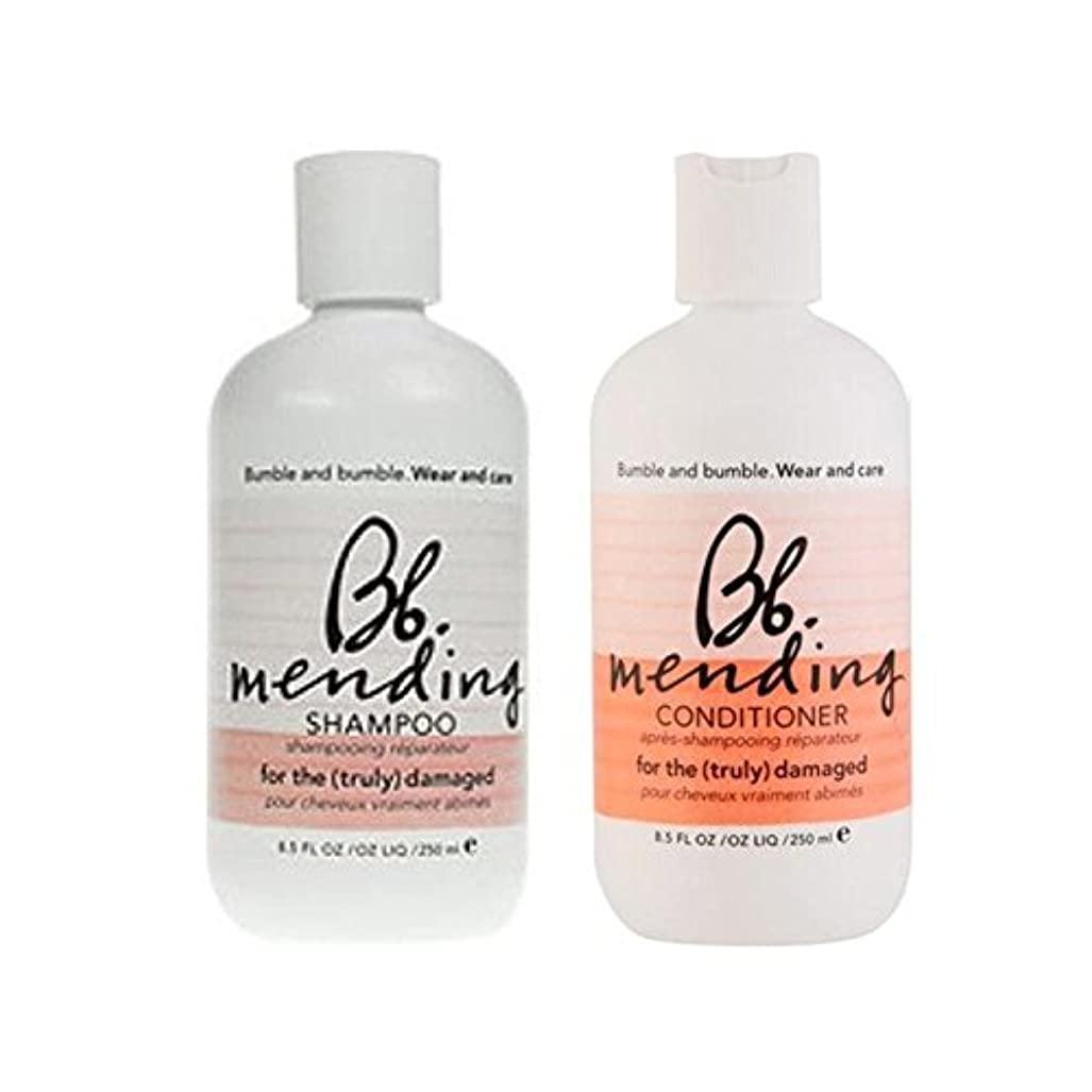 カバー非互換植物の着用し、-シャンプーとコンディショナーを補修ケア x2 - Bb Wear And Care Mending Duo- Shampoo And Conditioner (Pack of 2) [並行輸入品]