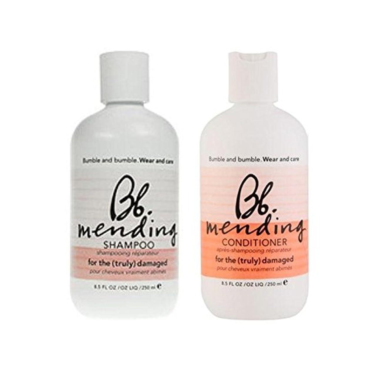 ヘッドレス木曜日欠伸着用し、-シャンプーとコンディショナーを補修ケア x4 - Bb Wear And Care Mending Duo- Shampoo And Conditioner (Pack of 4) [並行輸入品]