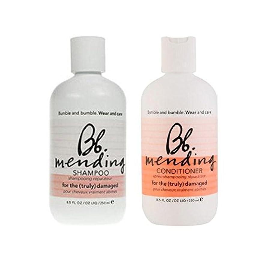 ポータルプリーツ振動する着用し、-シャンプーとコンディショナーを補修ケア x4 - Bb Wear And Care Mending Duo- Shampoo And Conditioner (Pack of 4) [並行輸入品]