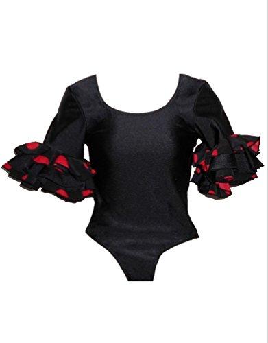 Body para baile flamenco con manga a la altura de los codos, para mujer, L