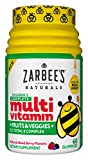 Zarbee's Naturals Children's Complete Multivitamin + Fruits & Veggies Gummies, Mixed Berry Flavors,...