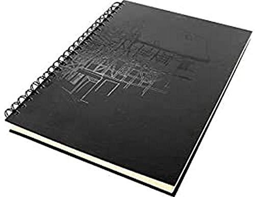 Skizzenbuch Kangaro A4 blanko, Wire-o, Hardcover, schwarz mit Druck, 140g creme Papier, K-5576