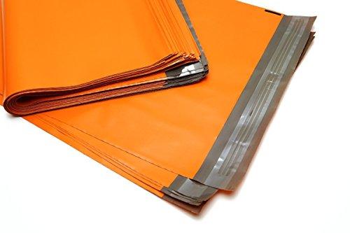 100 Folienmailer® Versandbeutel Orange 450 x 600 mm + Klappe: Bunte LDPE Versandtaschen aus Coex Folie, Versandtüten aus Plastik sind perfekt zum Versand von Kleidung und Textilien geeignet