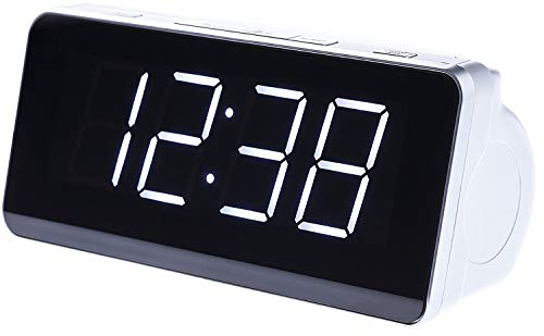 Camry CR1156 Uhrenradio (Radio/Digitaler LCD Wecker, Dual Alarm, Weckfunktion) Weiß