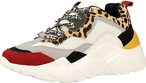 Steve Madden Antonia Sneaker, Zapatillas para Mujer, Multicolor (Leopard 969), 39 EU