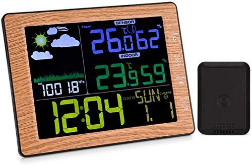 Klok binnen- en buitentemperatuur en vochtigheid Digitale Delicate Creatieve Alarm Weerstation Mooie muur binnen- en buitentemperatuur