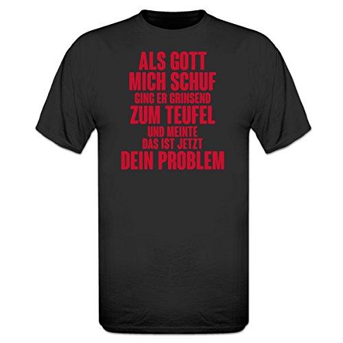 Shirtcity Als Gott Mich Schuf ging er grinsend zum Teufel T-Shirt by