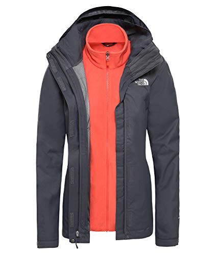 THE NORTH FACE Damen W Evolve Ii Triclima Triclimate, Vanadis Grey/Ra, XL
