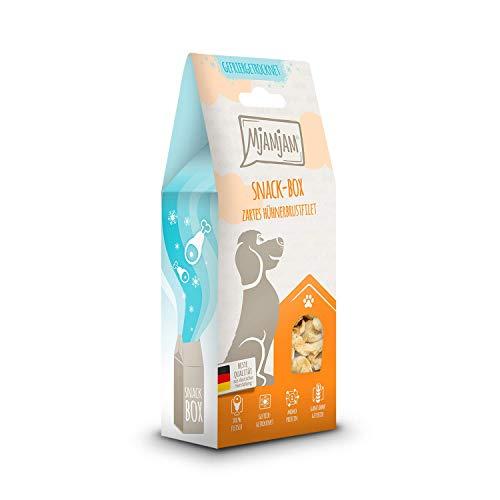 MjAMjAM - Premium Snackbox für Hunde - zartes Hühnerbrustfilet, gefriergetrocknet, 1er Pack (1 x 80 g)