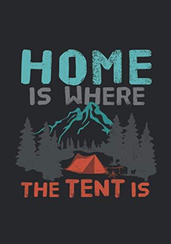 Notizbuch A5 dotted, gepunktet, punktiert mit Softcover Design: Wintercamping Zelten Camping Berge Wald Outdoor Zelt: 120 dotted (Punktgitter) DIN A5 Seiten