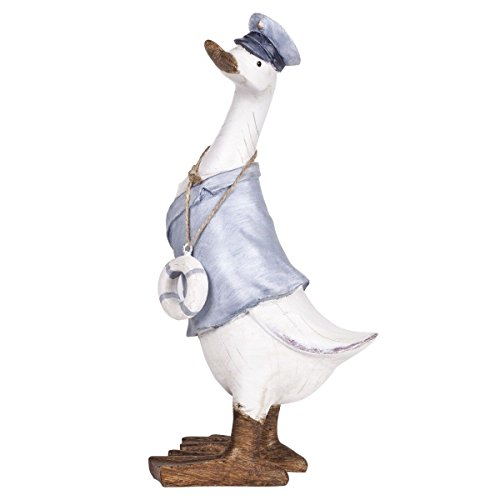 Large 30cm Nautical Duck with Life Buoy Ornament Figurine