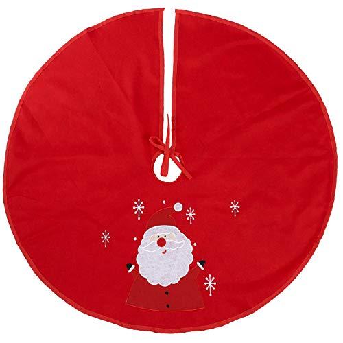 Christbaumdecke mit gesticktem Muster - Weihnachtsdecke Tannenbaum Dekoration Deko Weihnachts Decke Rund