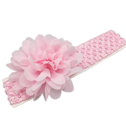 Baby Girl élastique Bandeaux/ Super Soft Bandeaux/ Handmade Rose