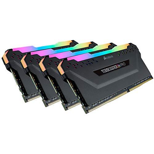 Corsair Vengeance RGB PRO 128GB (4x32GB) DDR4 3000 (PC4-24000) C16 Desktop Memory – Black (CMW128GX4M4D3000C16)