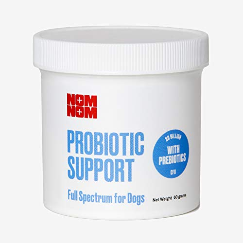 Nom Nom Dog Full Spectrum Probiotic Support Prebiotic Fiber and Inulin Powder Blend - Dog Probiotic for Digestive, Immune, and Dog Allergy Health Preferences