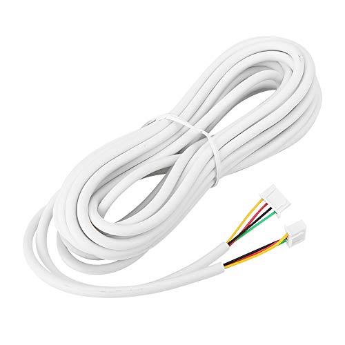 Cable de Cobre Flexible Redondo, con Dos terminales de Cuatro núcleos de 0,3 mm² de diámetro, Cable de 4 núcleos, Laboratorio telefónico para Sistema de videoportero doméstico