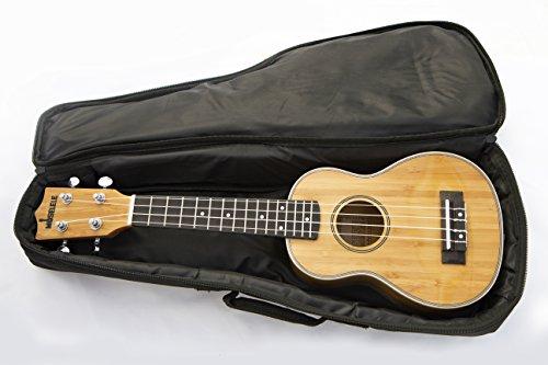 Moselele Bambookulele ukulele e GigBag Ukulele soprano...