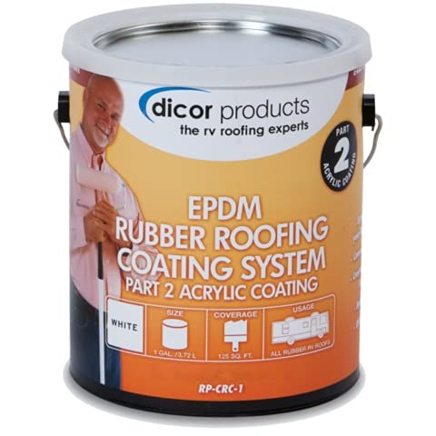 Dicor RPCRC1 White EPDM Rubber Roof Coating - 1 Gallon