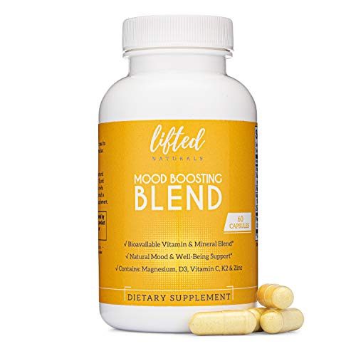 Lifted Naturals - Mood Boosting Blend - Vitamin D from Lichens, K2 (MK7), Magnesium Glycinate, Vitamin C, and Zinc Sulfate