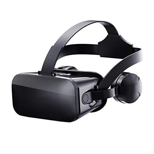 MMFXUE Auriculares de Realidad Virtual, Gafas VR, Gafas VR: para películas VR 3D, Videojuegos con FOV de 120 ° para la Serie Samsung Galaxy con Pantalla de 4.5-6.0 Pulgadas