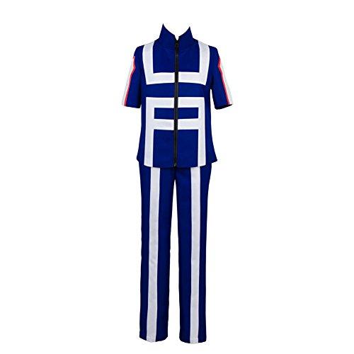 Linen Family My Hero Academia Izuku Midoriya Costume pour homme Katsuki Bakugo High School Gym Uniforme - Bleu - XX-Large