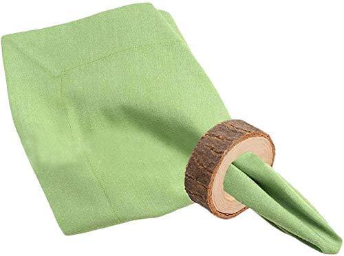 XZ Anillos de servilleta de madera universales, 10 piezas de servilletero de madera rústica Diy Kits de...