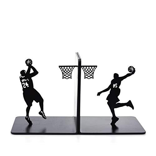 YANYAN Sujetalibros Baloncesto Metal Creativa sujetalibros Libro del Soporte del sostenedor Simple Que Juega a Baloncesto Libro Termina, Estudiantes Niño del Regalo de cumpleaños Sujeta Libros
