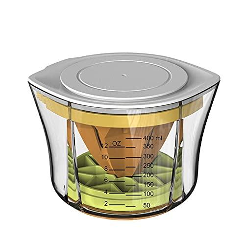 Exprimidor manual multifuncional exprimidor de lima con bandeja de hielo, herramientas de cocina portátiles con taza de medición fresca, rallador de verduras de zanahoria de jengibre
